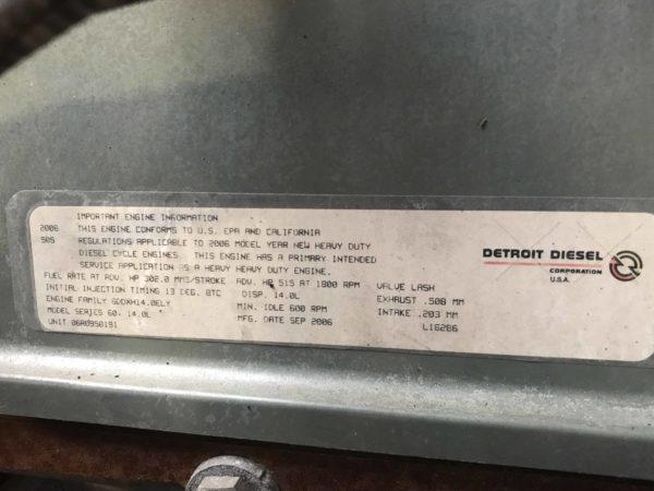 Used Detroit Diesel Series 60 DDEC V 14L Engine For Sale #06R0950191 (2)